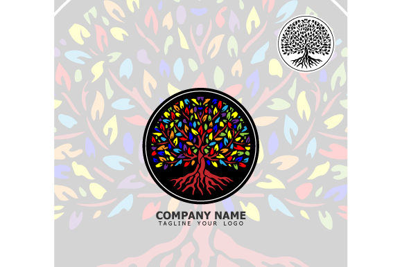 Print on Demand: Tree Logo Illustration Graphic Logos By curutdesign