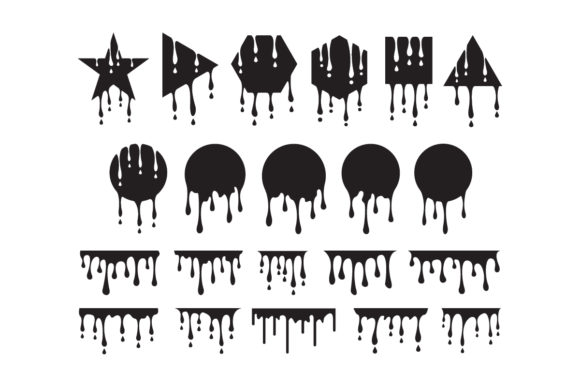 Vector Illustration of a Dripping Paint Graphic Logos By syaefulans