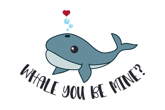 Whale You Be Mine Valentinstag Plotterdatei von Creative Fabrica Crafts