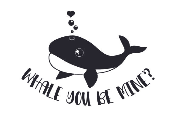Whale You Be Mine Valentine's Day Craft Cut File By Creative Fabrica Crafts - Image 2