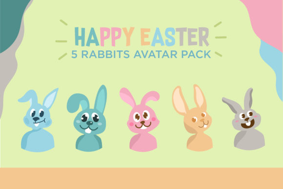 Download Free Avatar Vector Of Easter Bunny Graphic By Outputs Studio Creative Fabrica for Cricut Explore, Silhouette and other cutting machines.