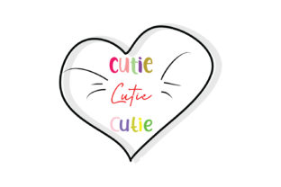 Download Free Cutie Cutie Cutie Quote Svg Cut Graphic By Yuhana Purwanti for Cricut Explore, Silhouette and other cutting machines.