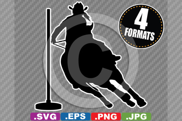 Female Rodeo Pole Bending Silhouette Graphic By Idrawsilhouettes
