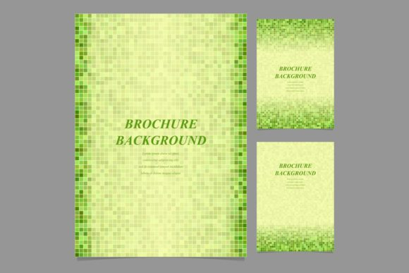 Download Free Green Geometric Brochure Backgrounds Graphic By Davidzydd for Cricut Explore, Silhouette and other cutting machines.