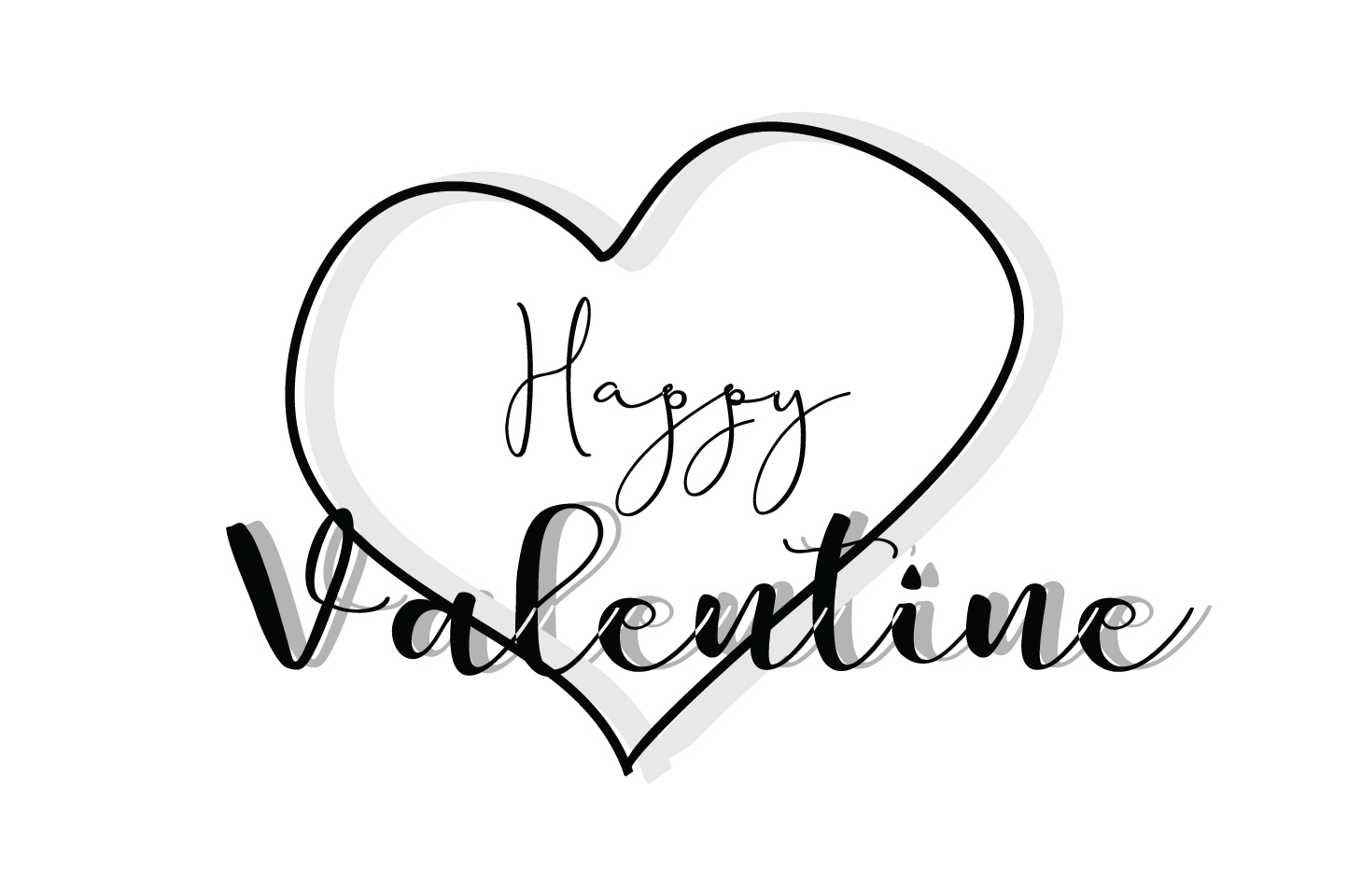 Download Free Happy Valentine Quote Svg Cut Graphic By Yuhana Purwanti for Cricut Explore, Silhouette and other cutting machines.