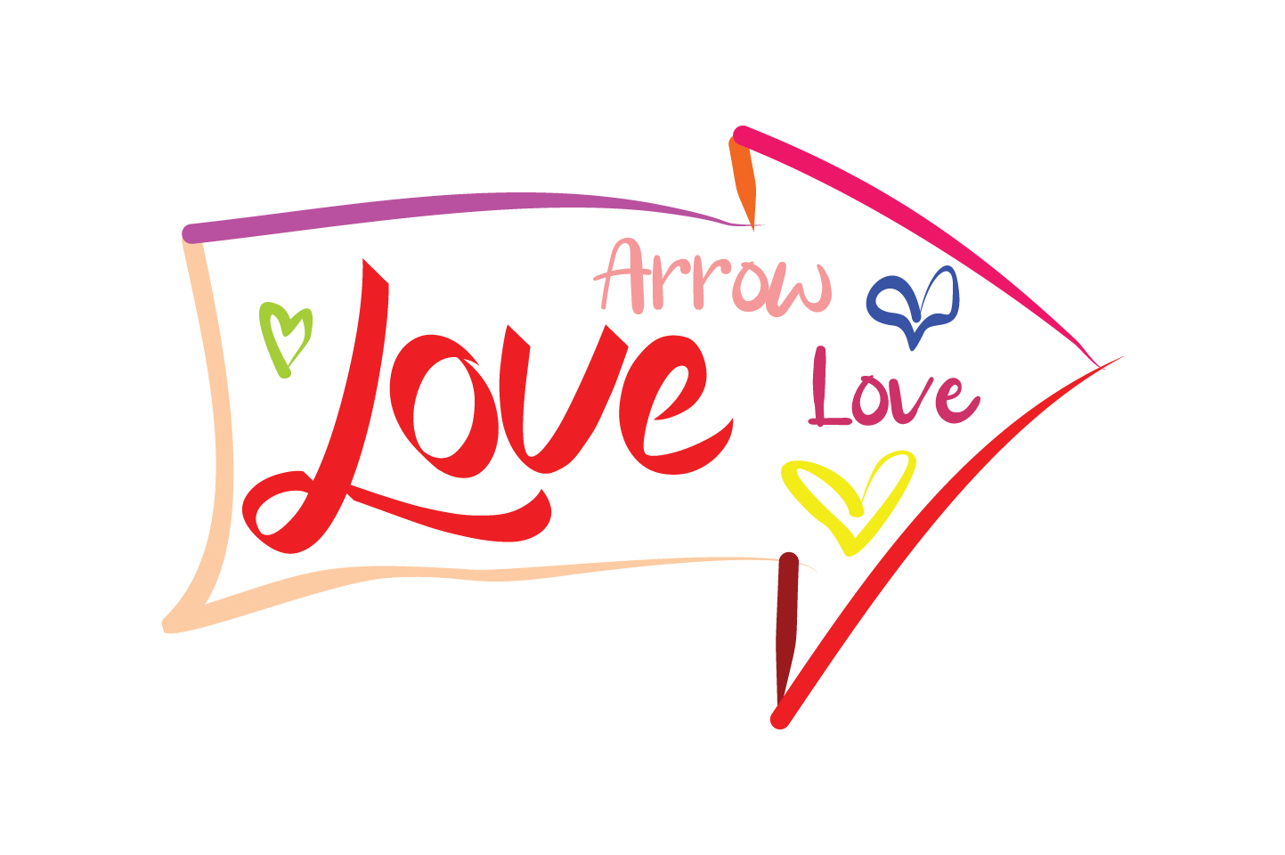 Download Free Love Arrow Love Quote Svg Cut Graphic By Yuhana Purwanti for Cricut Explore, Silhouette and other cutting machines.