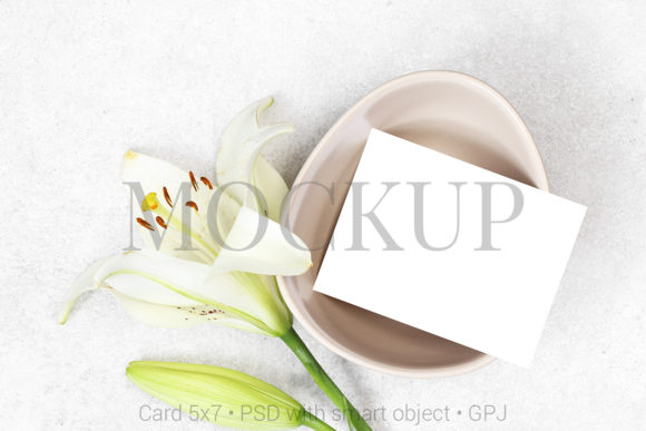 Download Free Mockup Wedding Number Card With Flowers Graphic By Pawmockup for Cricut Explore, Silhouette and other cutting machines.