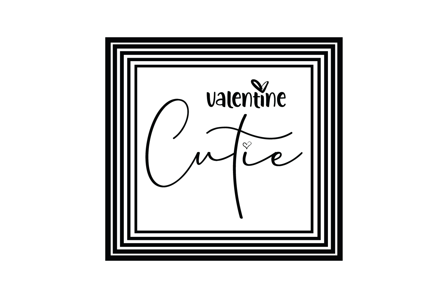 Download Free Valentine Cutie Quote Svg Cut Graphic By Yuhana Purwanti for Cricut Explore, Silhouette and other cutting machines.
