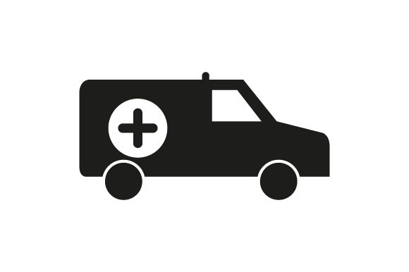 Download Free Ambulance Icon Graphic By Marco Livolsi2014 Creative Fabrica for Cricut Explore, Silhouette and other cutting machines.