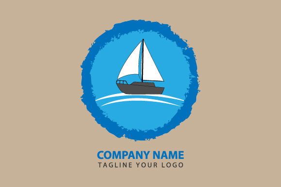 Print on Demand: Boat Logo Illustration Graphic Logos By curutdesign