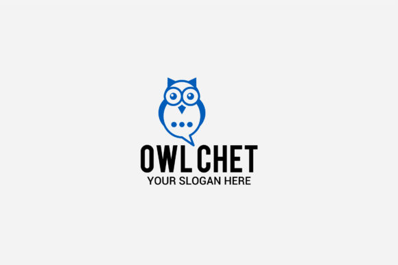 Download Free Owl Chat Logo Graphic By Shazdesigner Creative Fabrica SVG Cut Files