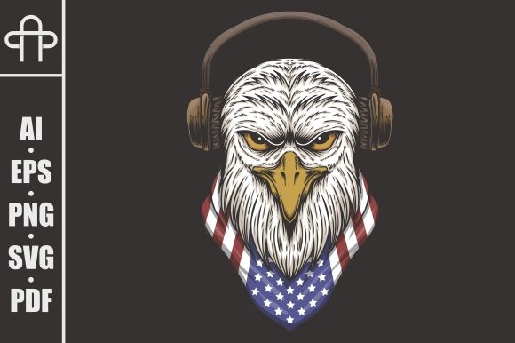 Download Free Eagle Head Usa Illustration Graphic By Andypp Creative Fabrica for Cricut Explore, Silhouette and other cutting machines.