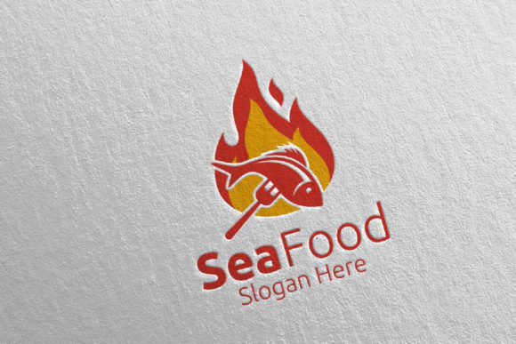 Download Free Fish Seafood Logo Restaurant Or Cafe 88 Graphic By Denayunecf Creative Fabrica for Cricut Explore, Silhouette and other cutting machines.