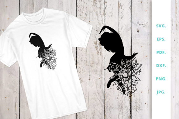Print on Demand: Floral Ballerina Silhouette 5 Graphic Crafts By Sintegra