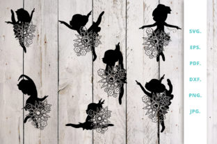 Download Free Floral Ballerina Silhouette Bundle Graphic By Sintegra for Cricut Explore, Silhouette and other cutting machines.