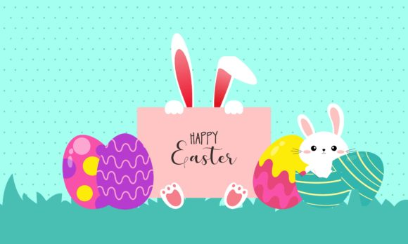 Download Free Happy Easter Day Design Illustration Graphic By Deemka Studio for Cricut Explore, Silhouette and other cutting machines.
