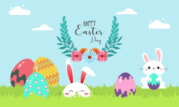 Happy Easter Day Design Illustration Graphic Logos By DEEMKA STUDIO