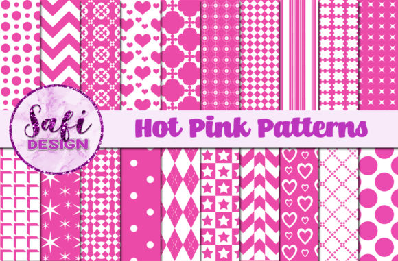 Print on Demand: Hot Pink Patterns Graphic Patterns By Safi Designs