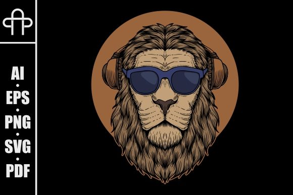 Print on Demand: Lion Head Eyeglasses Illustration Graphic Illustrations By Andypp