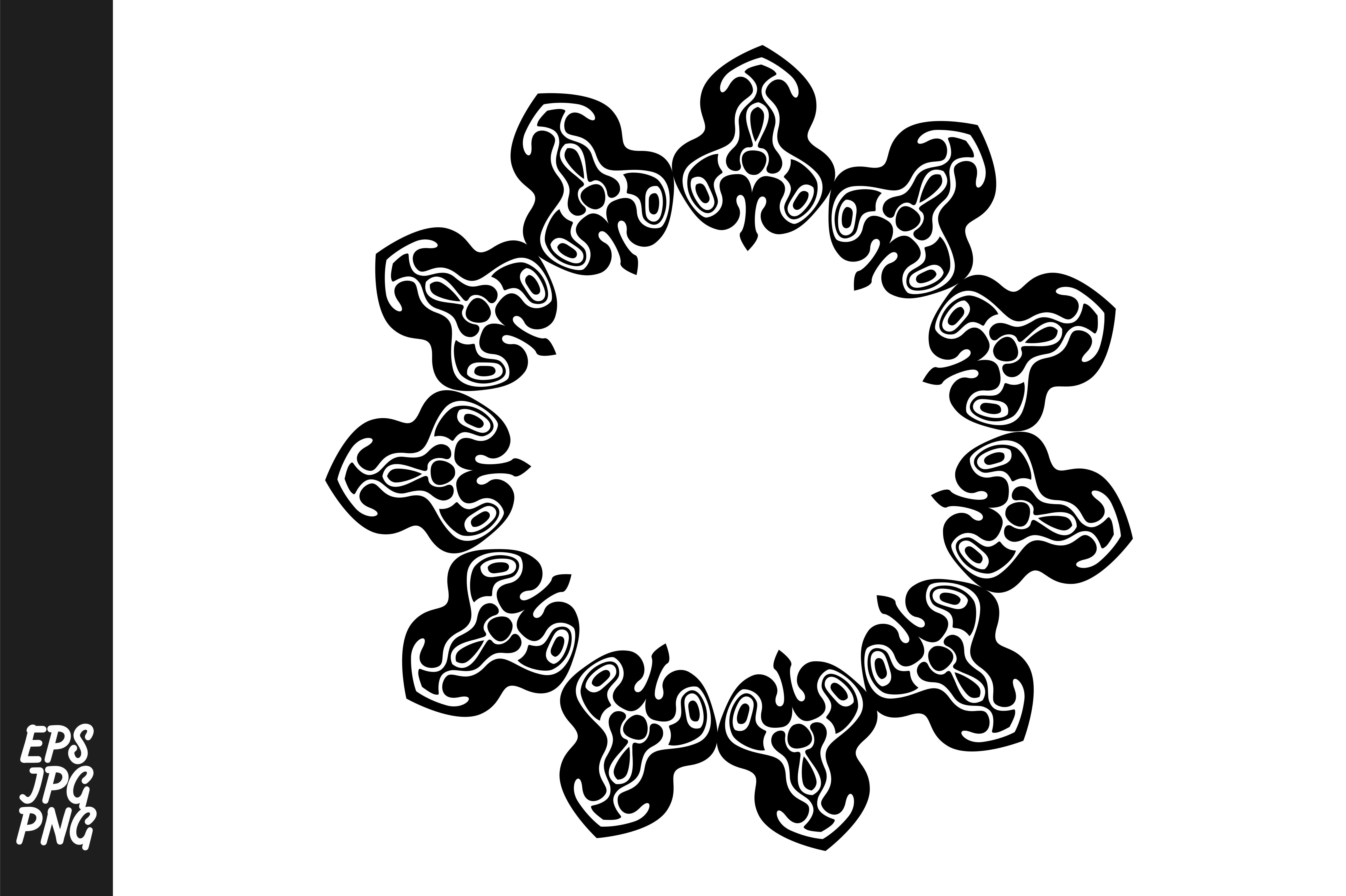 Download Free Monogram Flower Ornament Decoration Graphic By Arsa Adjie for Cricut Explore, Silhouette and other cutting machines.