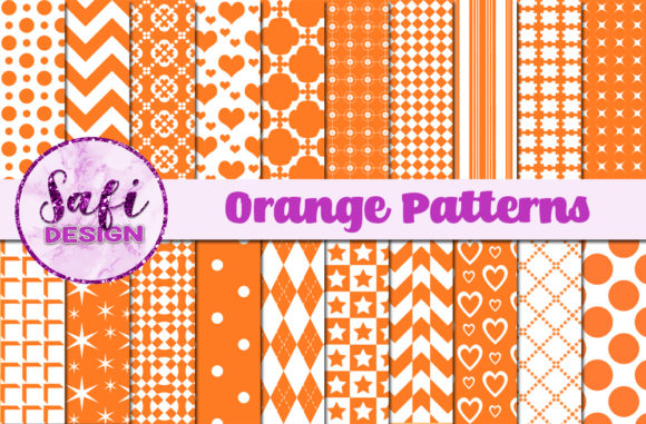 Print on Demand: Orange Patterns Graphic Patterns By Safi Designs