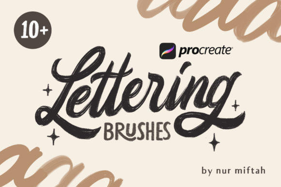 Procreate Lettering Brushes Graphic Brushes By nurmiftahulhaq