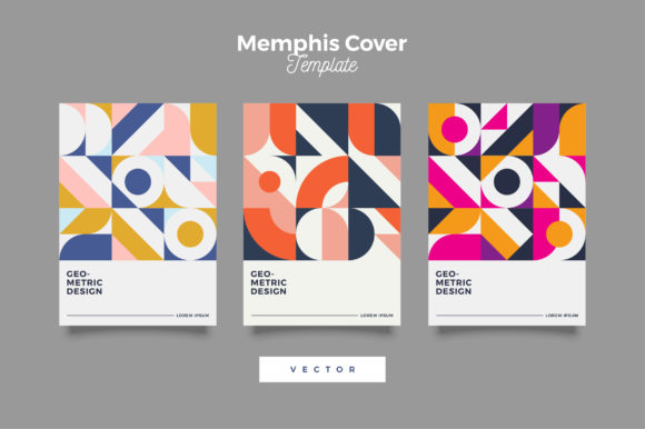 Download Free Retro Bauhaus Geometric Cover Design Graphic By Novendi88 for Cricut Explore, Silhouette and other cutting machines.