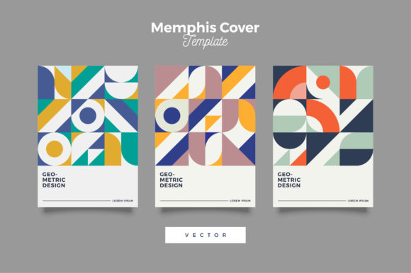 Download Free Retro Geometric Cover Design Template Graphic By Novendi88 for Cricut Explore, Silhouette and other cutting machines.