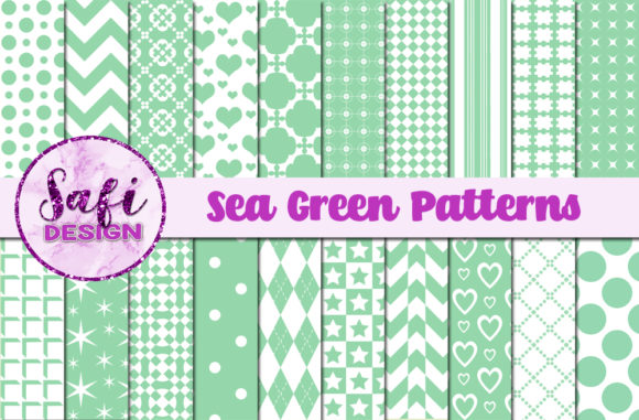 Print on Demand: Sea Green Patterns Graphic Patterns By Safi Designs