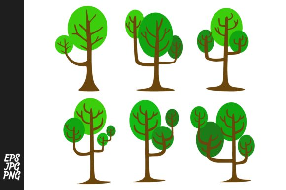 Download Free Simple Tree Vector Graphic By Arsa Adjie Creative Fabrica for Cricut Explore, Silhouette and other cutting machines.