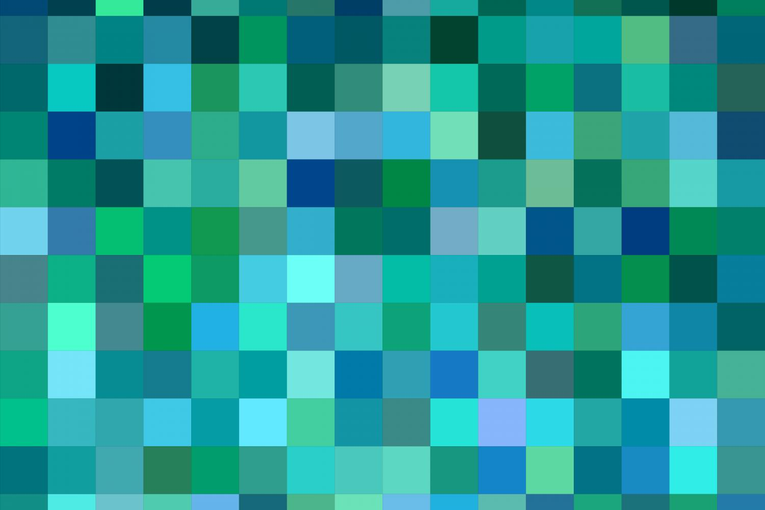 Download Free Teal Abstract Square Background Graphic By Davidzydd Creative for Cricut Explore, Silhouette and other cutting machines.