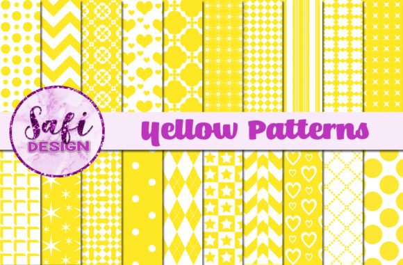 Print on Demand: Yellow Patterns Graphic Patterns By Safi Designs