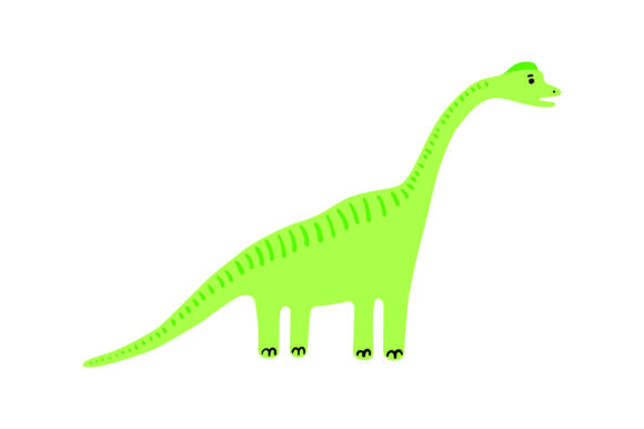 Brachiosaurus Dinosaurs Craft Cut File By Creative Fabrica Crafts - Image 1