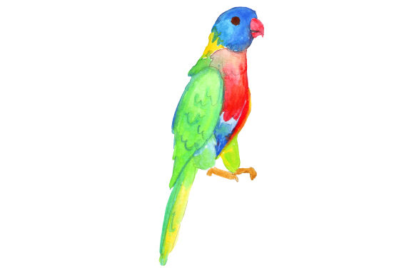 Download Free Rainbow Lorikeet In Watercolor Svg Cut File By Creative Fabrica for Cricut Explore, Silhouette and other cutting machines.