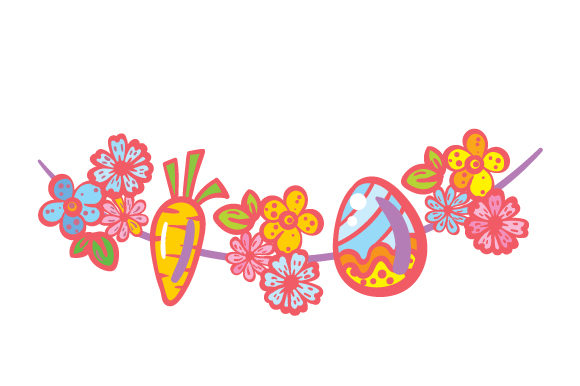 Easter Garland Easter Craft Cut File By Creative Fabrica Crafts