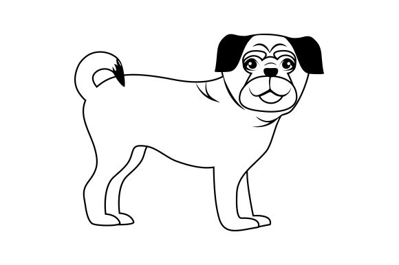 Pug Dogs Craft Cut File By Creative Fabrica Crafts - Image 2