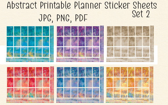 Print on Demand: Abstract Planner Sticker Set Graphic Crafts By Kathryn Maloney