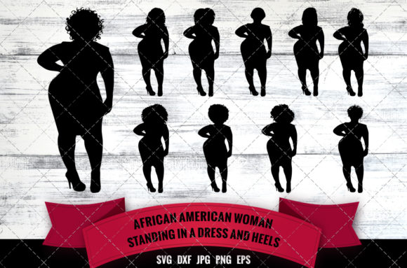 African American Woman Graphic Crafts By thesilhouettequeenshop