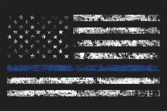 American Police Flag Graphic Illustrations By davgogoladze