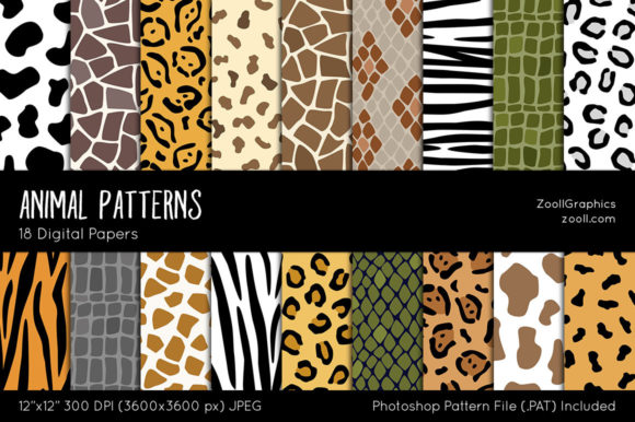 Animal Patterns Grafik Muster von ZoollGraphics
