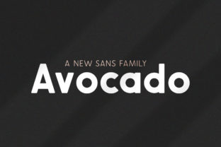 Print on Demand: Avocado Family Sans Serif Font By Salt and Pepper Fonts 1