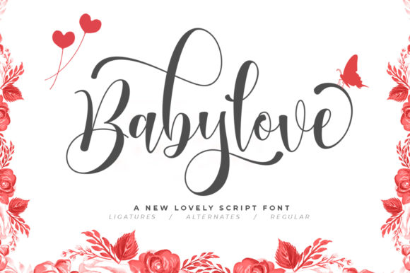 Print on Demand: Babylove Script & Handwritten Font By Natural Ink