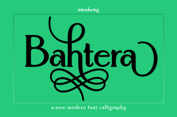 Print on Demand: Bahtera Serif Font By Greentype