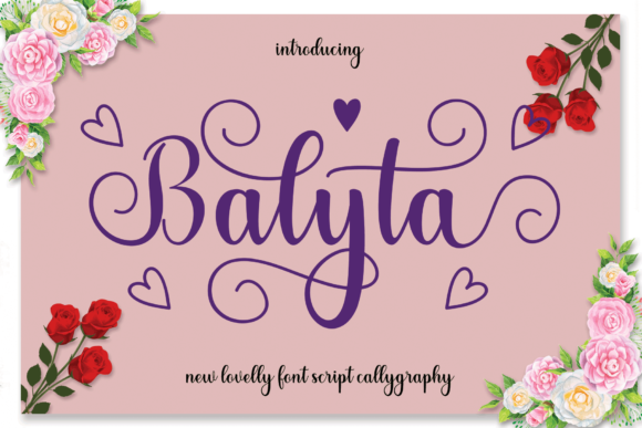 Print on Demand: Balyta Script & Handwritten Font By MYdesign