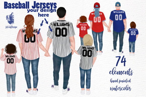 Baseball Jerseys Graphic Illustrations By LeCoqDesign
