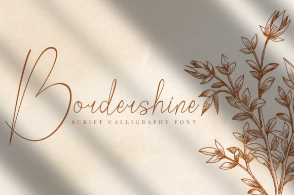 Print on Demand: Bordershine Script & Handwritten Font By CBRTEXT Studio