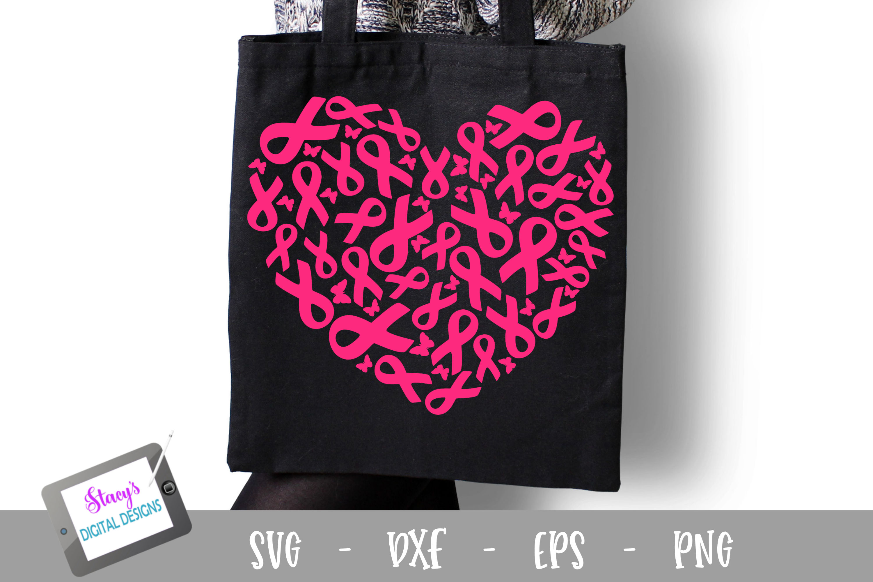 Download Free Breast Cancer Awareness Graphic By Stacysdigitaldesigns for Cricut Explore, Silhouette and other cutting machines.