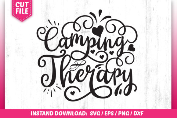 Print on Demand: Camping Therapy Graphic Crafts By SubornaStudio
