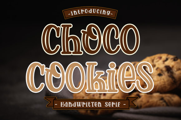 Print on Demand: Choco Cookies Display Font By RochArt