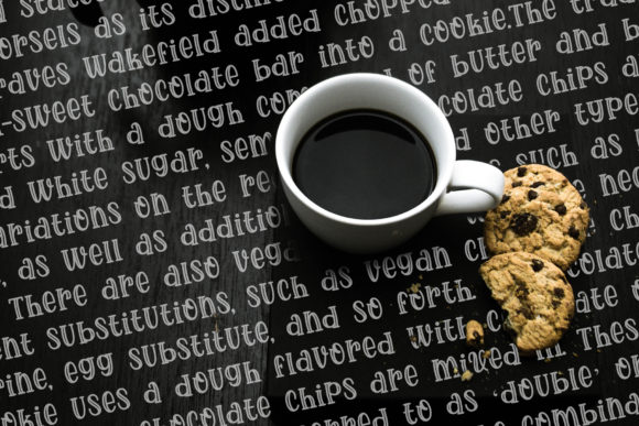 Print on Demand: Choco Cookies Display Font By RochArt - Image 3